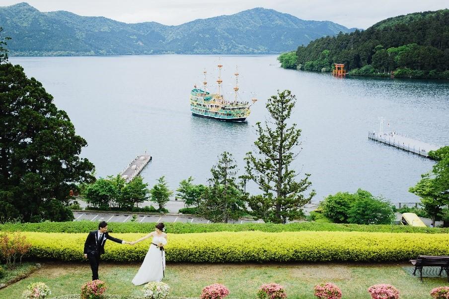 箱根の観光スポット♡ロケーション<br />フォトウェディングと温泉宿泊家族旅行