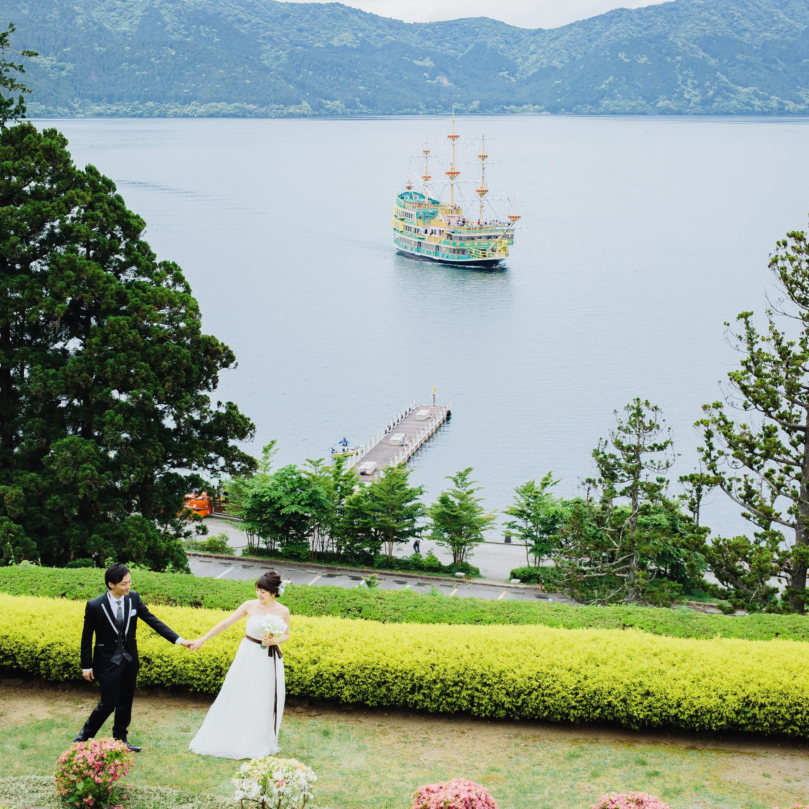 【芦ノ湖キャンプ村】<br/>自然を満喫する<br/>アウトドアウェディングプラン おすすめポイント
