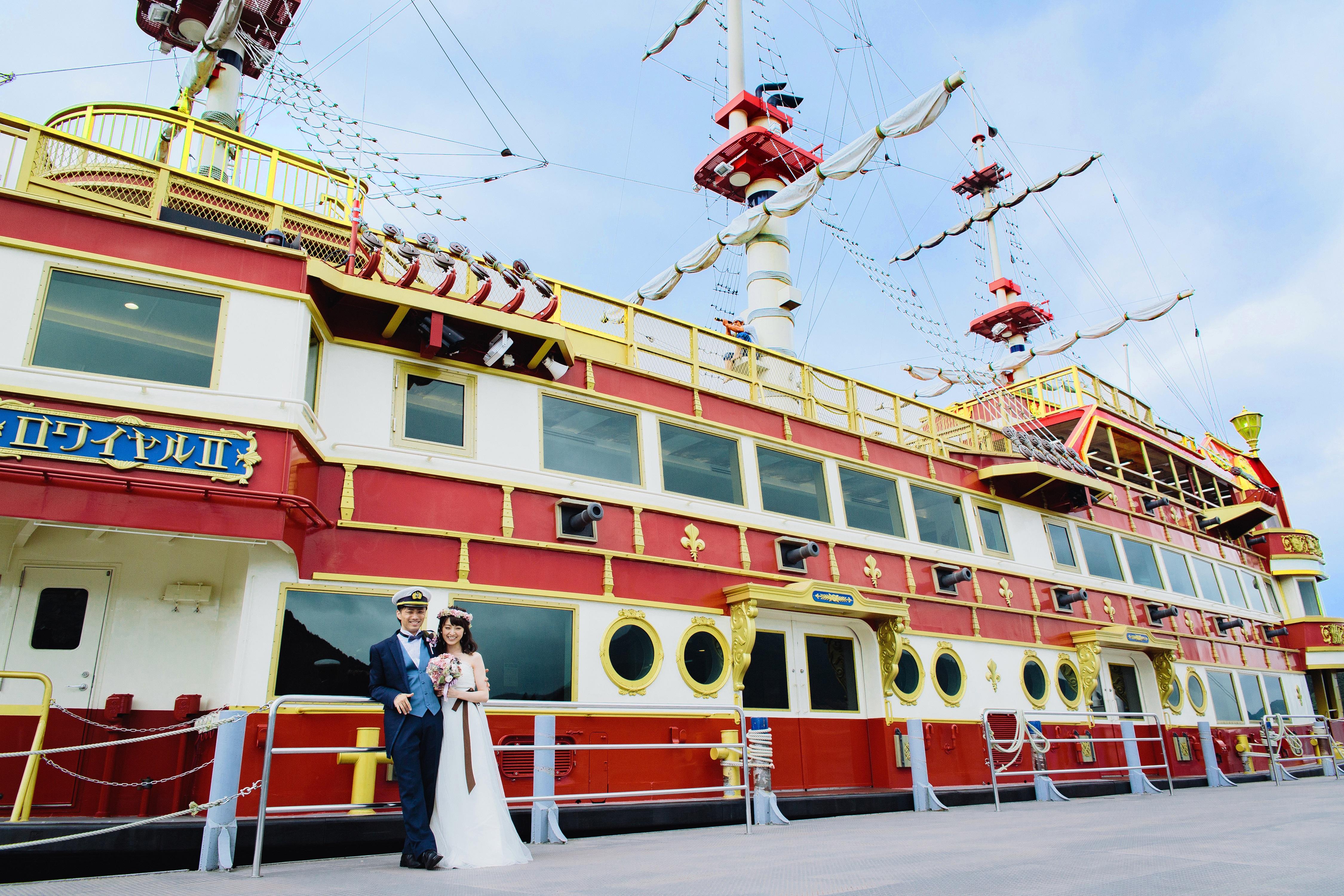 湘南プレミアムWeddingおすすめ 芦ノ湖海賊船 船上ウェディング