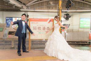 箱根登山鉄道アレグラ号☆彡フォトウェディング先輩花嫁カップルレポートアップしました♪