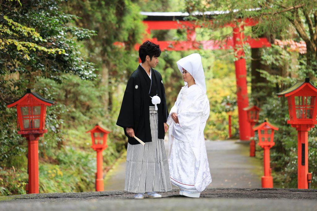 箱根神社挙式×豊月旅館×箱根観光