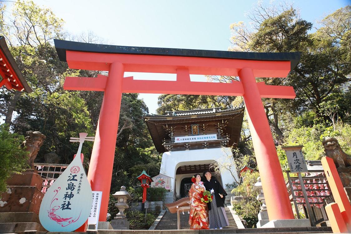江の島神社境内ロケーションフォト