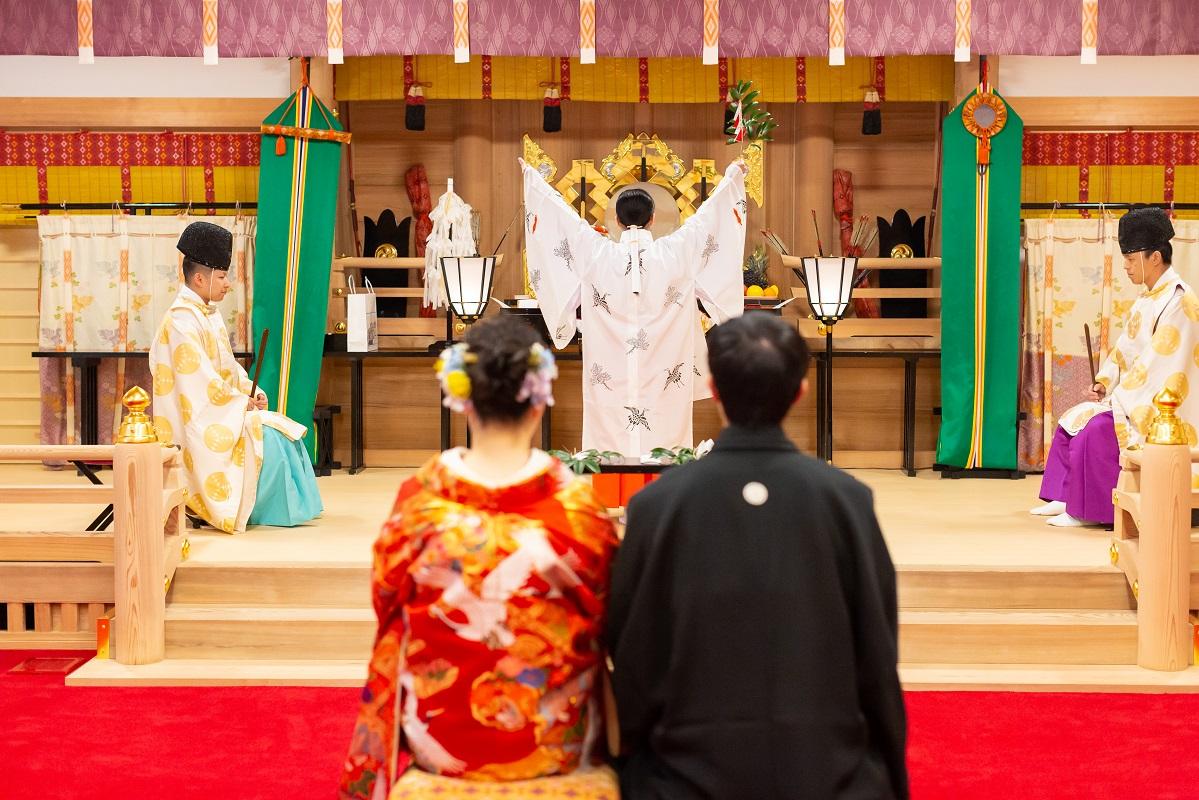 【挙式のみプラン】神社×和装