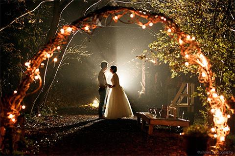 雰囲気抜群!楽しみ方も自由<br/>Night Wedding
