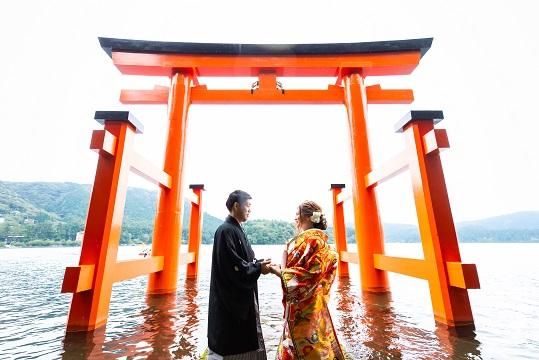 神前式でゆっくり<br/>旅館Wedding