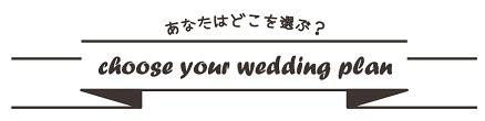 Choose your wedding plan★